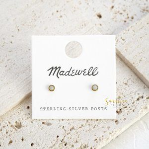 Madewell Vermeil Stone Stud Earrings - One Pair
